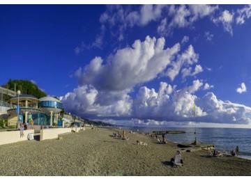 Собственный пляж  Отель  «ALEAN FAMILY RESORT & SPA SPUTNIK / Спутник Сочи»